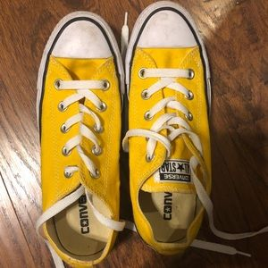 Yellow Low Top Converse